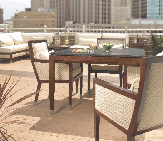 Metropolitan upholstered indoor/outdoor furniture from the Richard Frinier Collection for Century