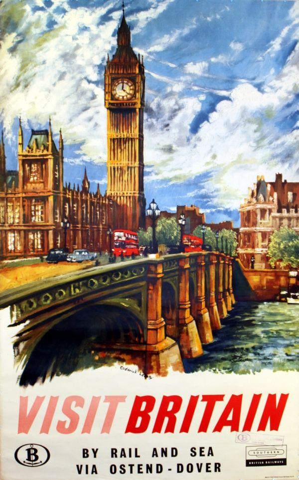Original travel poster for Southern british railways ...