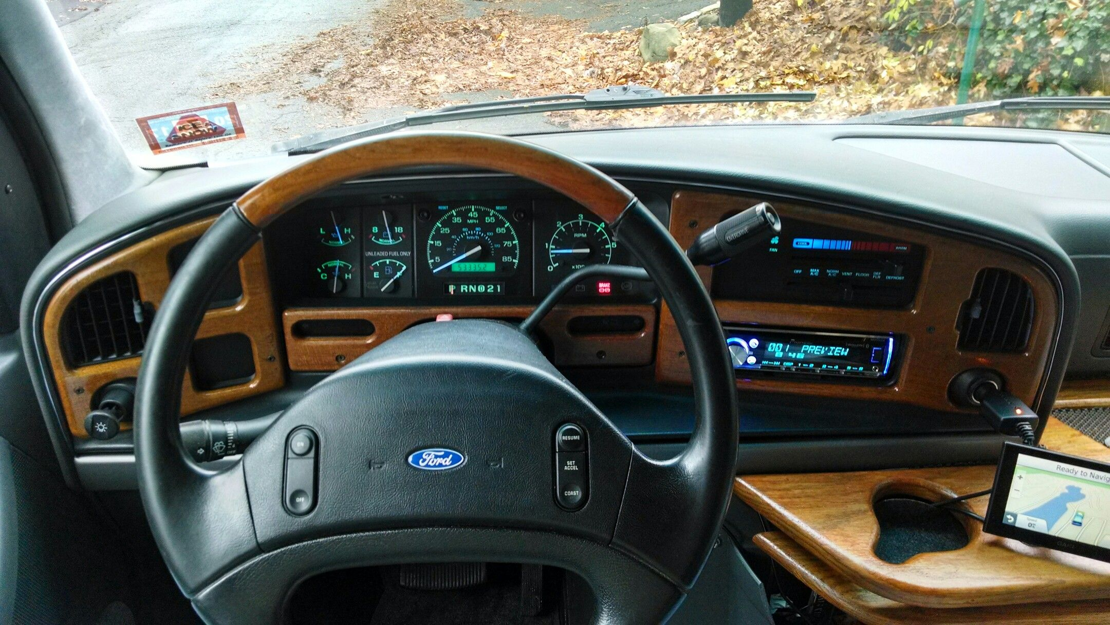 hight resolution of  swapped in an f150 instrument cluster with tachometer blue leds and added satellite radio also rewired fuse box so lighter socket is only