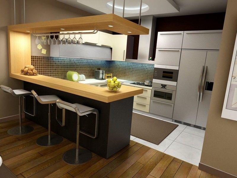 L Shaped Kitchen With Dining Table Simple Kitchen Design Modern
