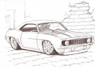 Como Dibujar Un Dodge Charger