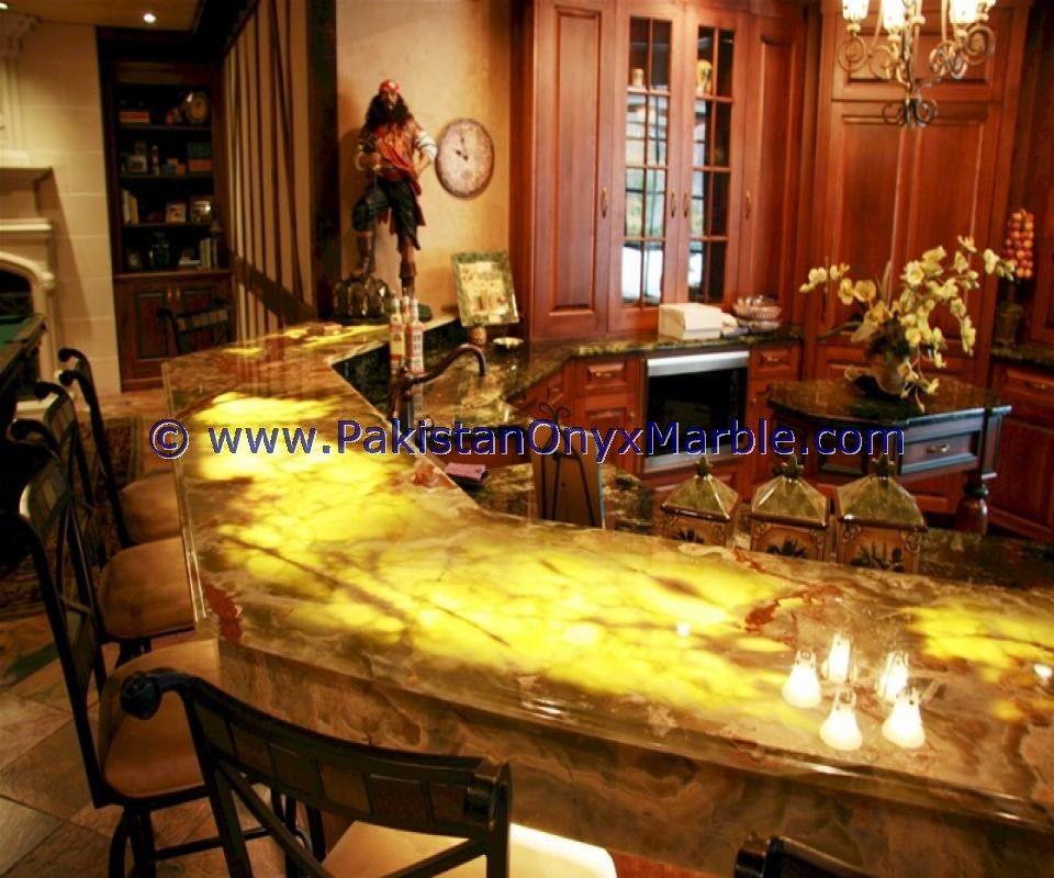 Backlit Onyx Kitchen Countertops Backlighting Onyx Kitchen