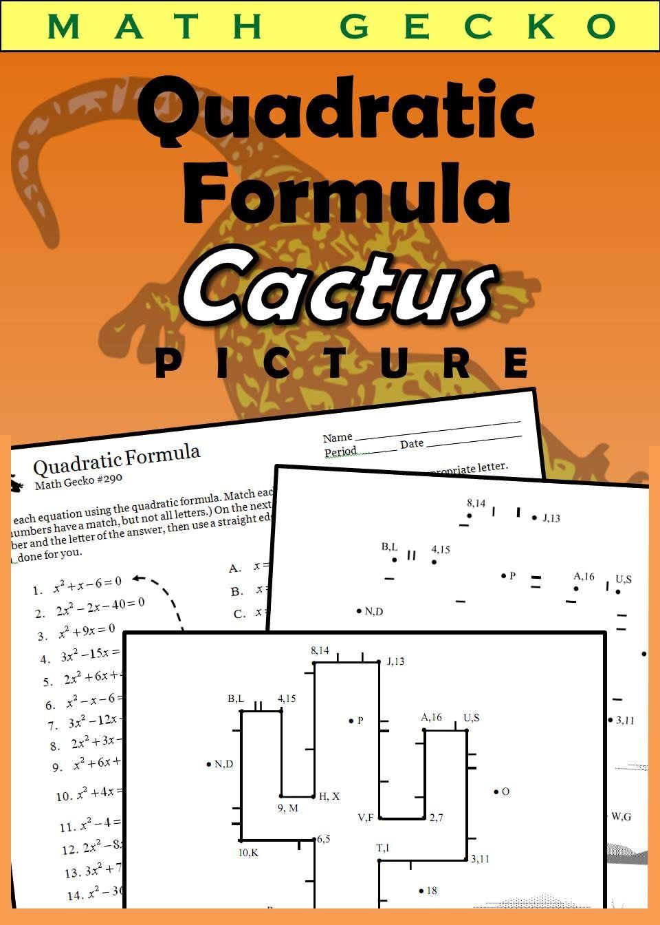 Quadratic Formula Picture Cactus Quadratic Formula Quadratics Teaching Algebra How to verify that addition is