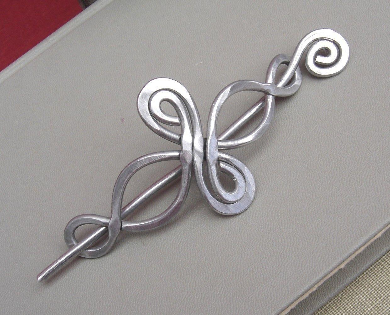 Celtic Infinity Loops Aluminum Shawl Pin, Hair Pin, Hair Slide ...