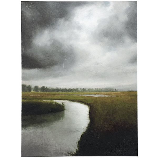 Ballard Designs Storm Over The Marsh Art Stretched Canvas ($499) ? liked on Polyvore featuring home home decor wall art landscape wall art ballard ...  sc 1 st  Pinterest & Ballard Designs Storm Over The Marsh Art Stretched Canvas ($499 ...
