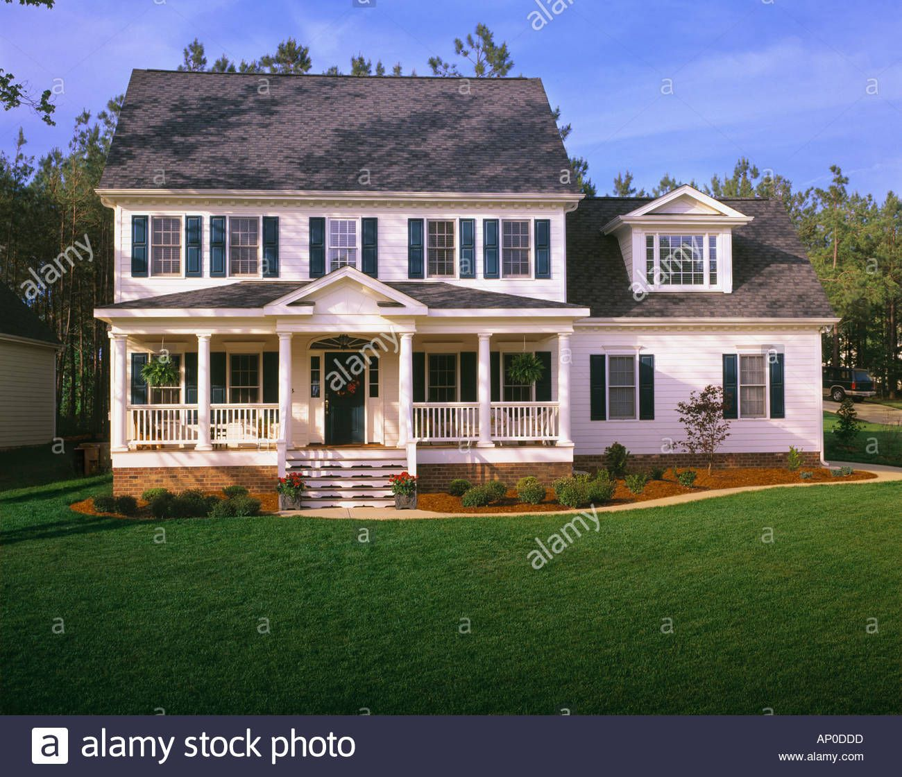 Porch Two Story Front Porch In 2020 House Front Porch House With Porch Exterior House Remodel