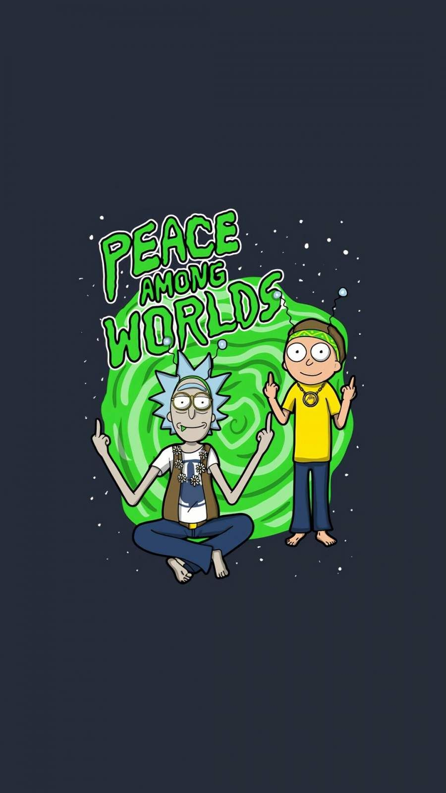 Rick And Morty Peace Among Words Iphone Wallpaper Rick And Morty Quotes Rick And Morty Stickers Iphone Wallpaper Rick And Morty