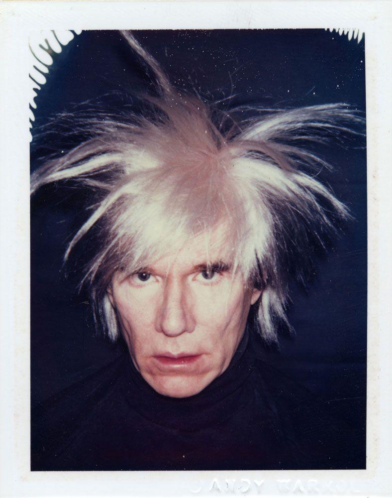 andy warhol self portraits fright wigs