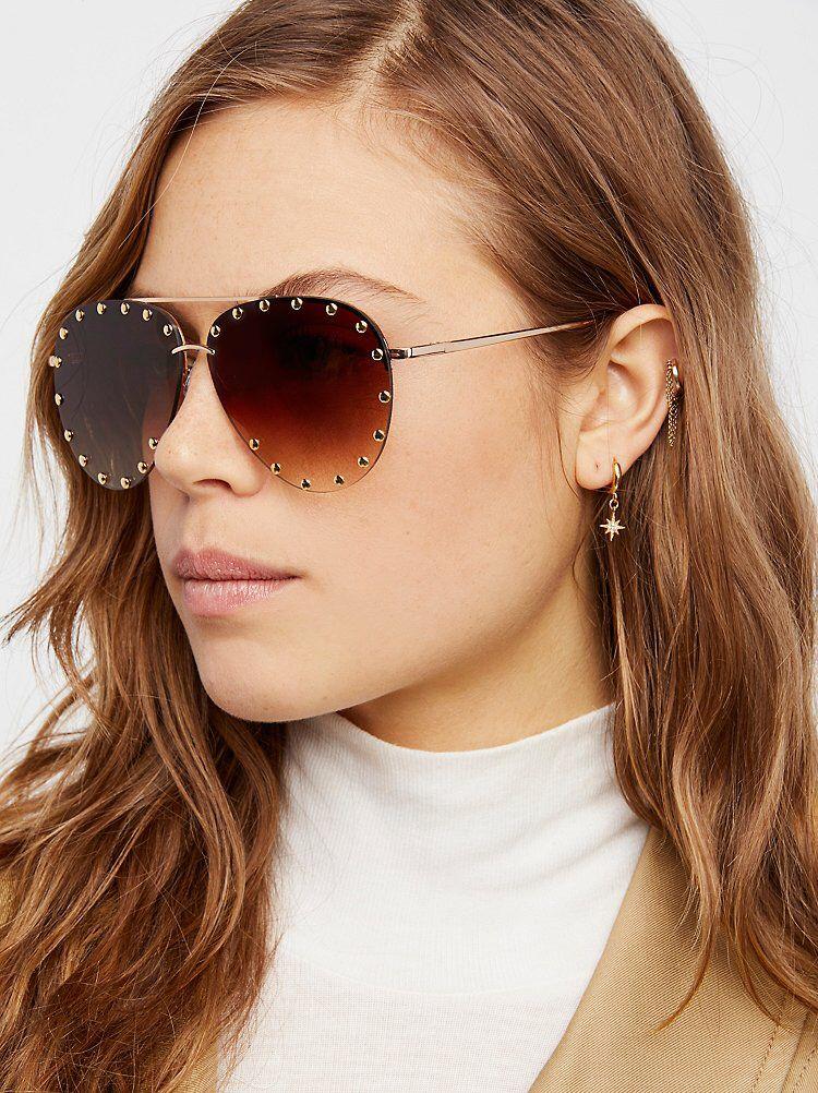 6775f7958b22 Star Struck Studded Aviator from Free People! Sunglasses Women