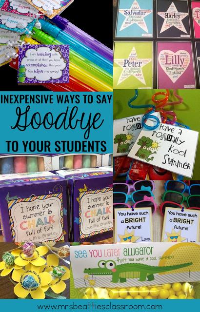 10 Fun Inexpensive Ways To Say Goodbye To Students Student Teacher Gifts Student Gifts School Gifts