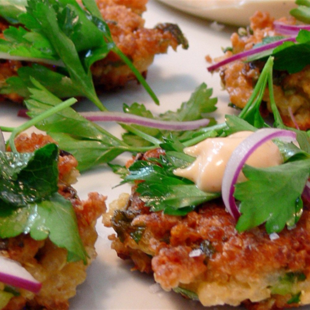 Quinoa Fritters With Red Eye Mayo