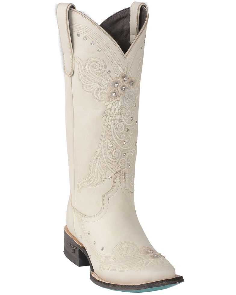 ad049d67671 Lane Women's Ivory Western Wedding Boots - Square Toe in 2019 ...