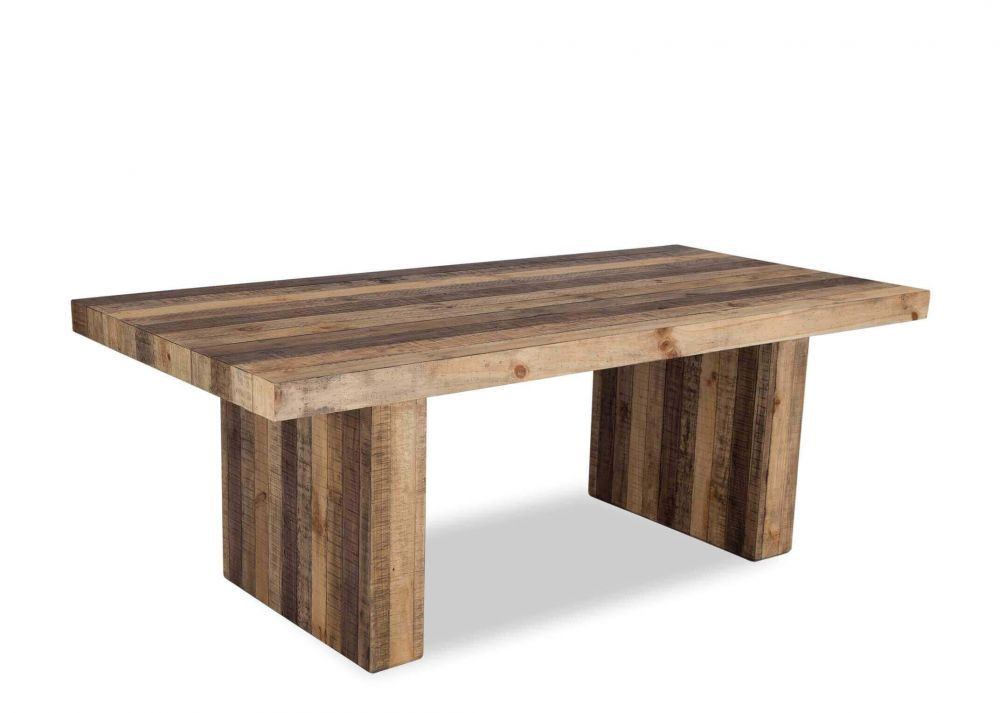 Ez Living Small Rustic Reclaimed Pine Dining Table Polygon