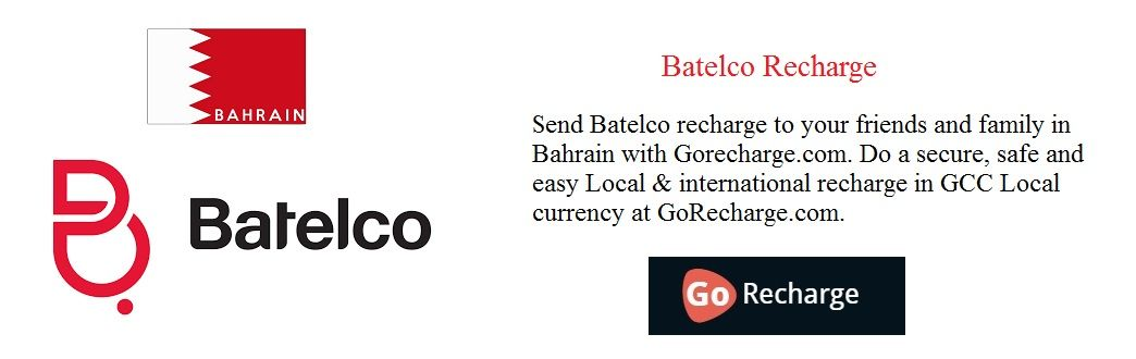 Send Batelco recharge to your friends and family in Bahrain with
