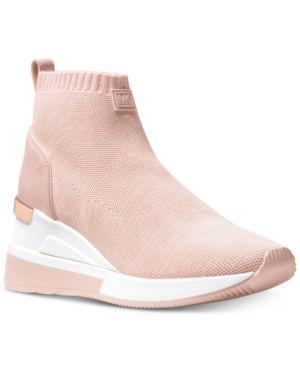 5d9dbd58f07 Michael Michael Kors Skyler Sneaker Booties - Pink 6.5M