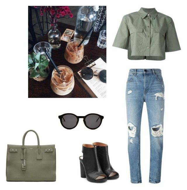 """""""Senza titolo #67"""" by annadallolio ❤ liked on Polyvore featuring Equipment, Alexander Wang, Maison Margiela, Yves Saint Laurent and Thierry Lasry"""