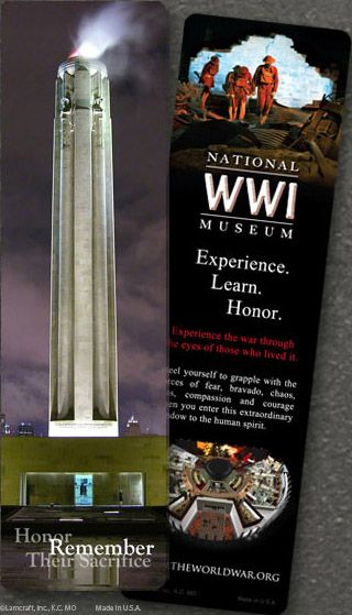 Museum Exterior at Night, 2x7 inches: National World War I Museum #Night #Bookmark #WWI #Museum