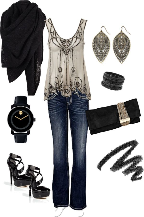 """Fun Night Out"" by codson on Polyvore (extra love the top)"