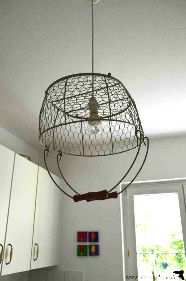 wire basket lighting for the kitchen - duftundliebe
