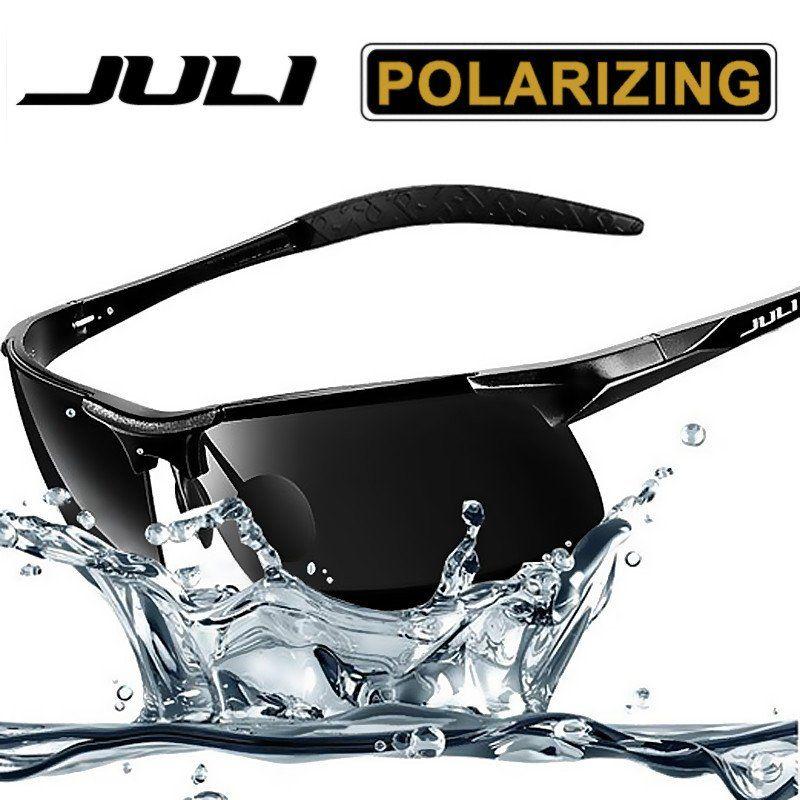 cdabda590b JULI HD mirror Polaroid Sunglasses Men Sports Style polarized for Driving  Running Mens Fashion Sun Glasses Brand Designe