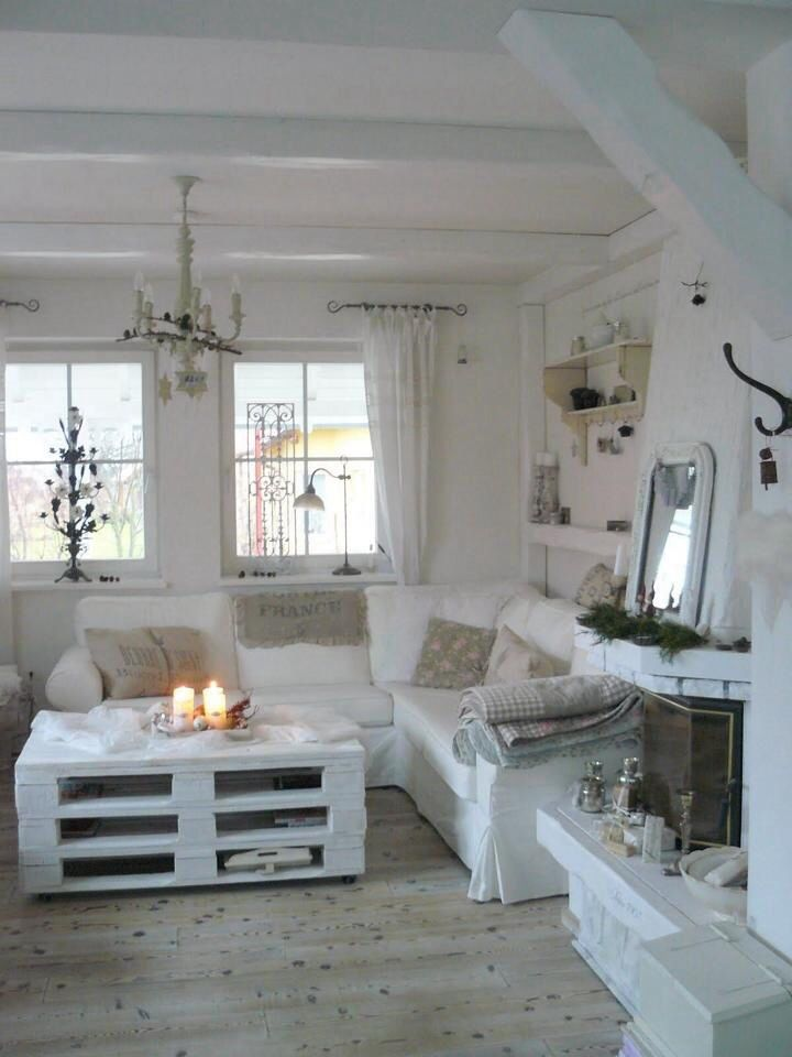 Soggiorno shabby bianco | Home | Pinterest | Shabby, Walls and House