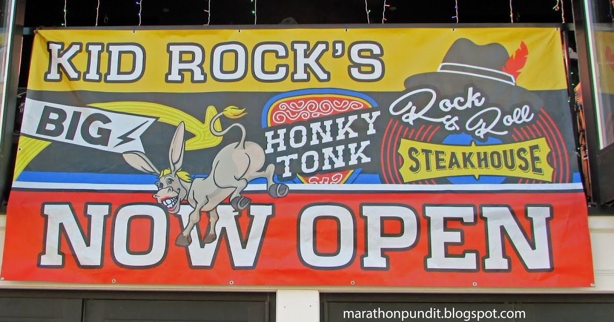 Kid Rock Big Honky Tonk Rock and Roll Steakhouse Open Sign