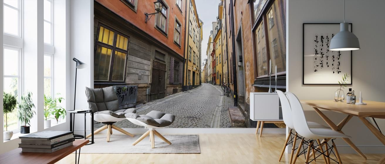 Street in Gamla Stan Stockholm - high-quality wall murals ...