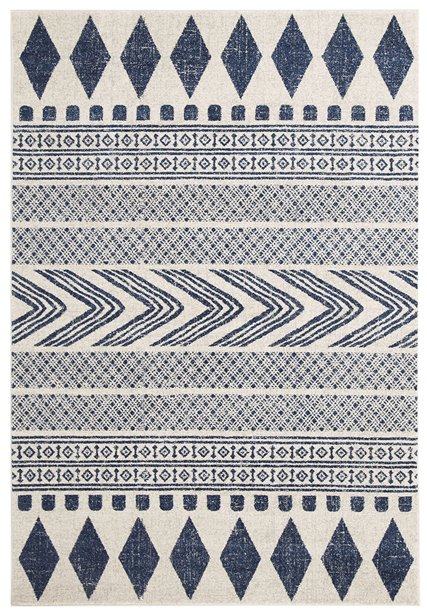 Lena Navy Power Loomed Modern Rug By Network Rugs Temple Webster 1cm Pile 100 Poly Faded Area Rugs Area Rugs Blue Rug