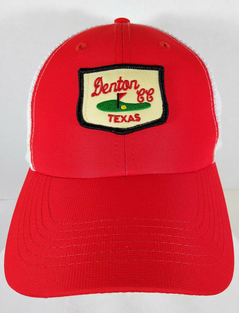 Denton Texas Cc Country Club Golf Hat Cap Red W White Mesh Imperial Golfhat Casual In 2019 Hats For Sale Denton Texas Hats