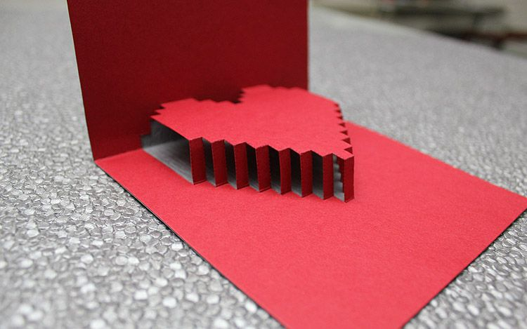3d Heart Valentine S Card Free Template Pop Up Card Templates Heart Pop Up Card Valentine Card Template