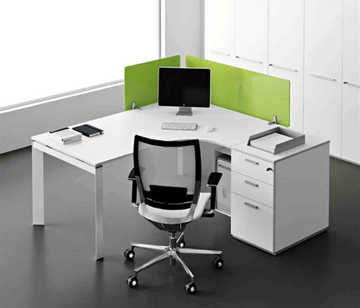 White Corner Office Desk Contemporary Office Desk Modern Office