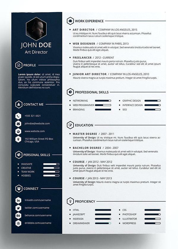Beautiful Resume Templates Free 2019 Resume design