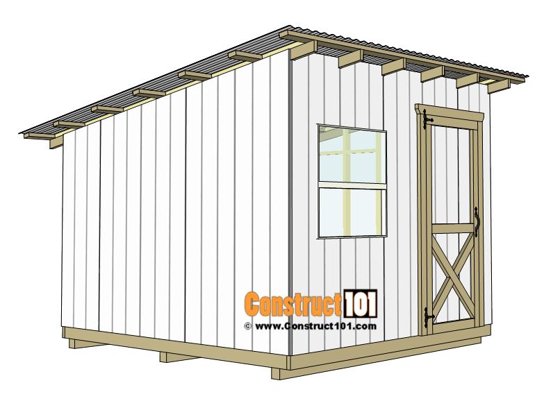 10x10 Lean To Shed Plans In 2020