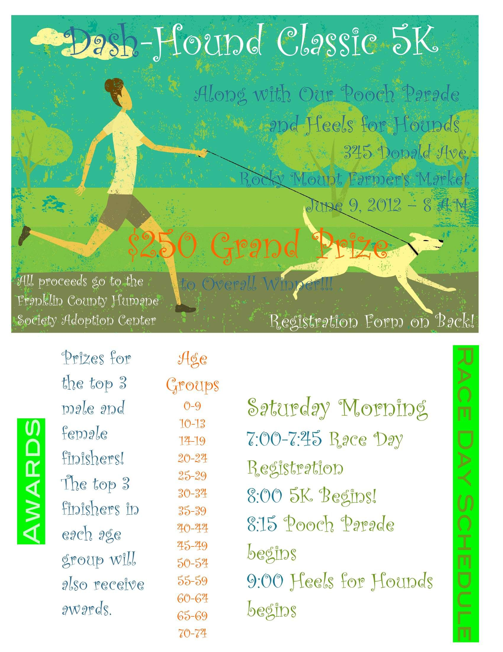5K Fundraiser in Rocky Mount VA for the Franklin County Humane