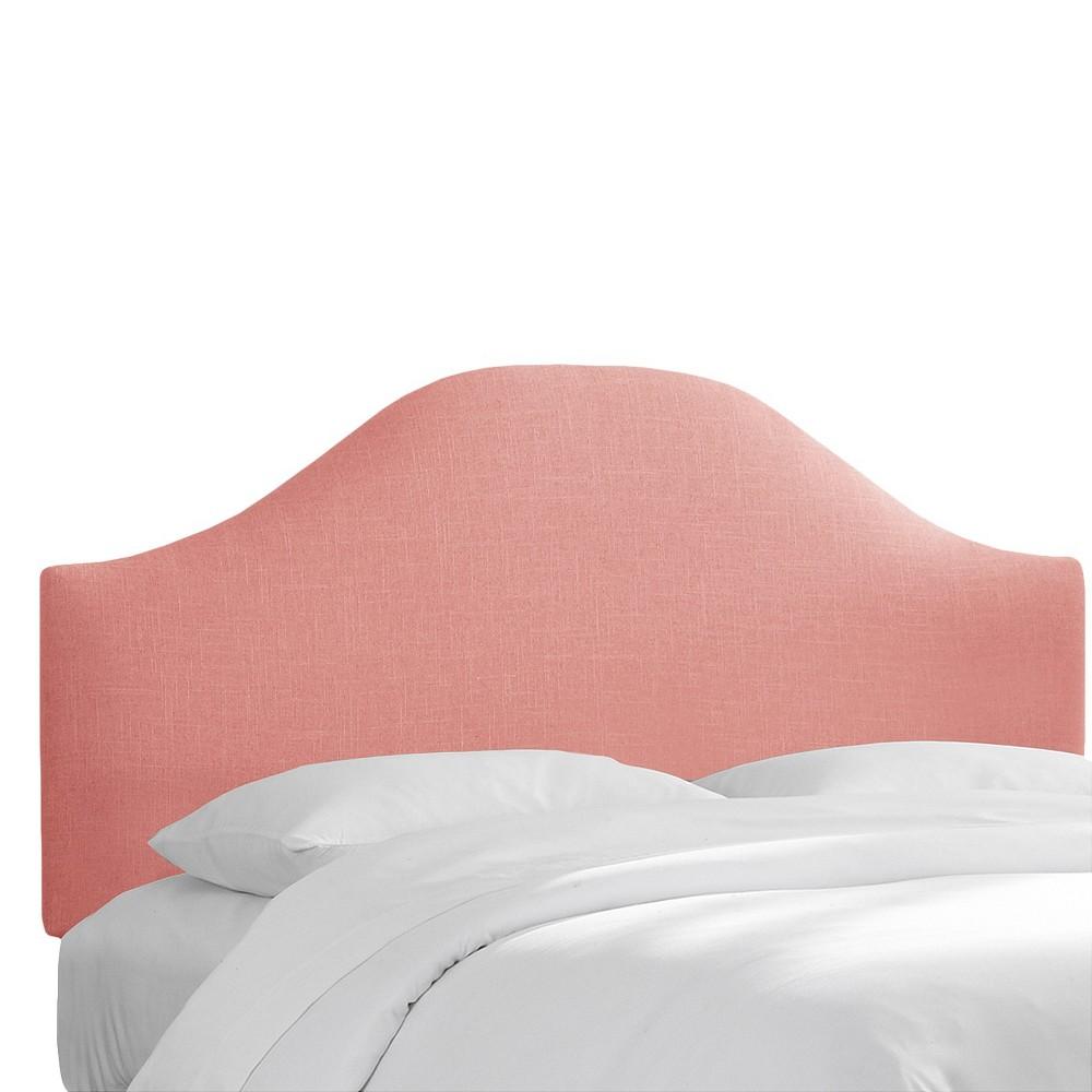 Custom Upholstered Curved Headboard - Linen Petal - California King - Skyline Furniture