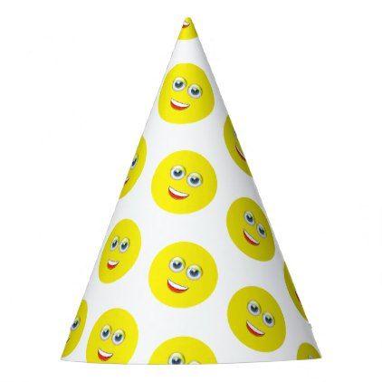 Happy Emoji Birthday Party Hat