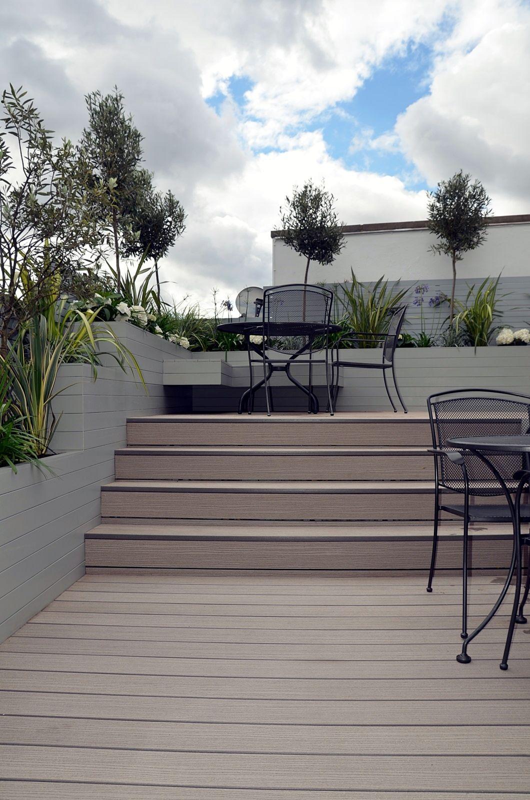 Penthouse Roof Terrace Garden Design Tower Bridge Docklands London Modern Garden Design Terrace Garden Design London Garden