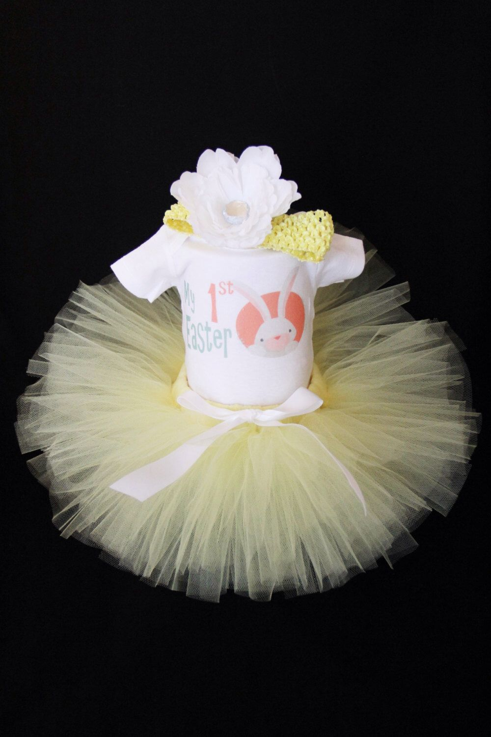 My First Easter Tutu Set - Baby's 1st Easter Bodysuit - First Easter Outfit - Easter Bunny Tutu Set - Easter Bunny  - EAHP1532 by EleventhHourDesigns on Etsy https://www.etsy.com/listing/222338455/my-first-easter-tutu-set-babys-1st