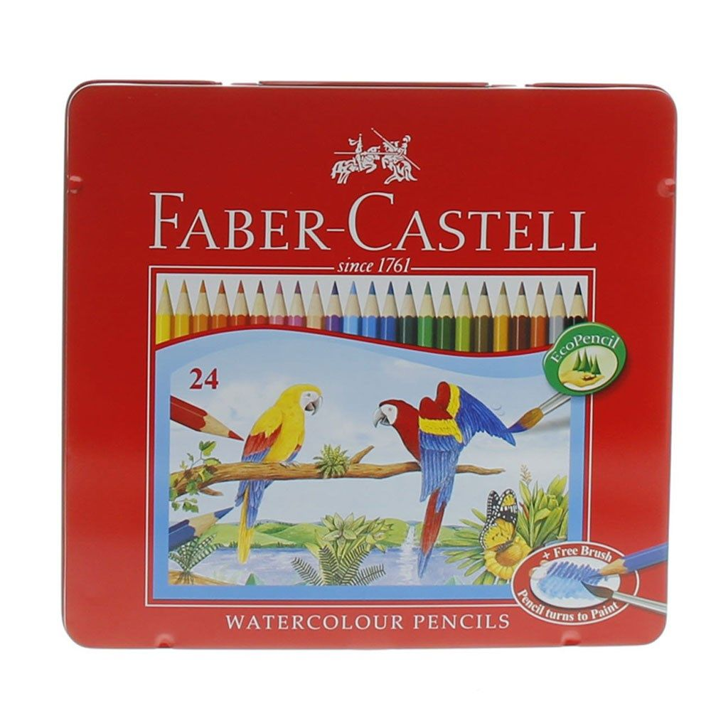 Buy Faber Castell Water Color Pencil 115925 24 S Online In Uae