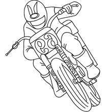 Trail racer coloring page - Coloring page - TRANSPORTATION coloring pages - MOTORCYCLE coloring pages