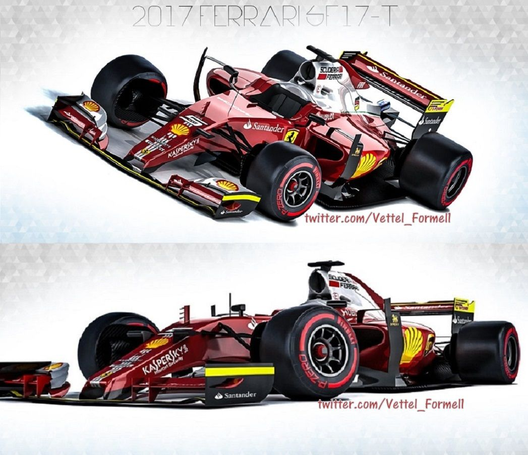 "sebastian-vettel-formel-1: ""Offering first glimpse of the F1 2017 cars - Concept livery for the 2017 Ferrari SF17-T Seb 5️⃣ - Sebastian Vettel """