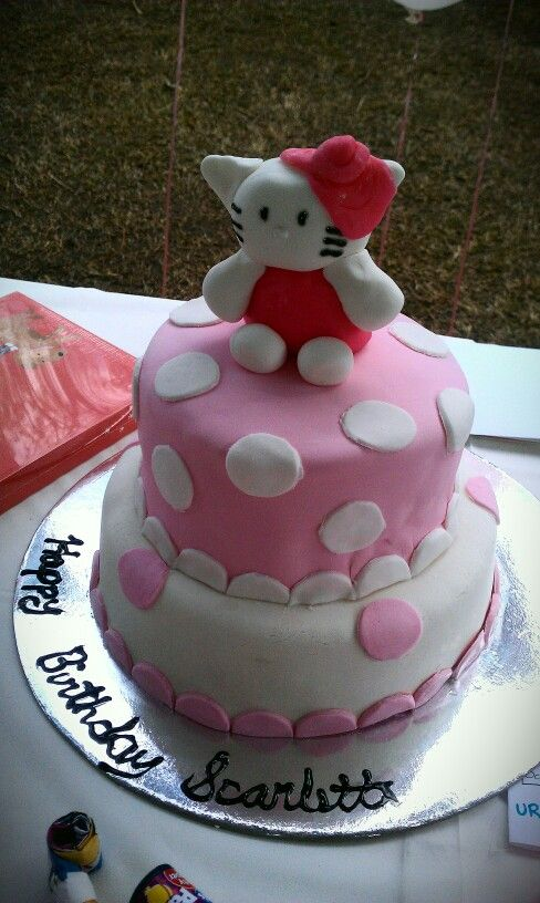 My Besties Baby Girls 2nd Birthday Cake So Lovely Hellokitty Cake