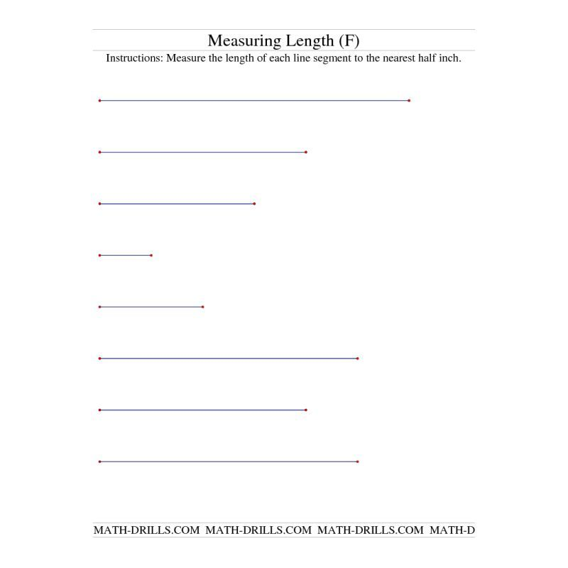 Measurement Worksheet Measuring Length Of Line Segments In Inches