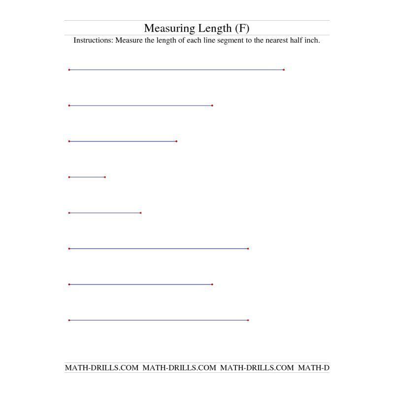 Measurement Worksheet -- Measuring Length of Line Segments in ...