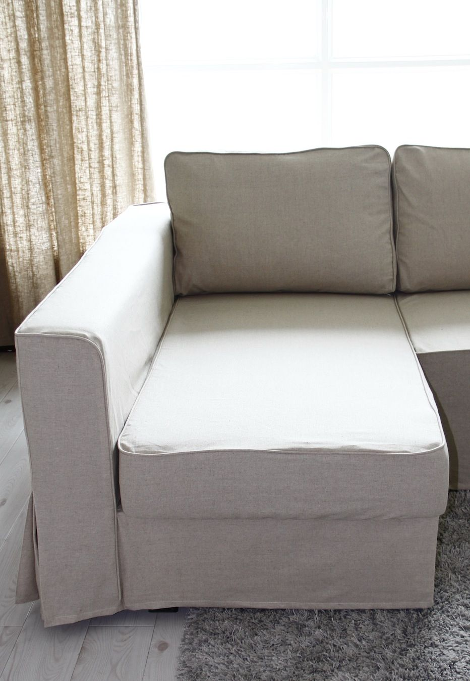 Loose Fit Linen Manstad Sofa Slipcovers Now Available Sofa  ~ White Denim Slipcovers Sofa
