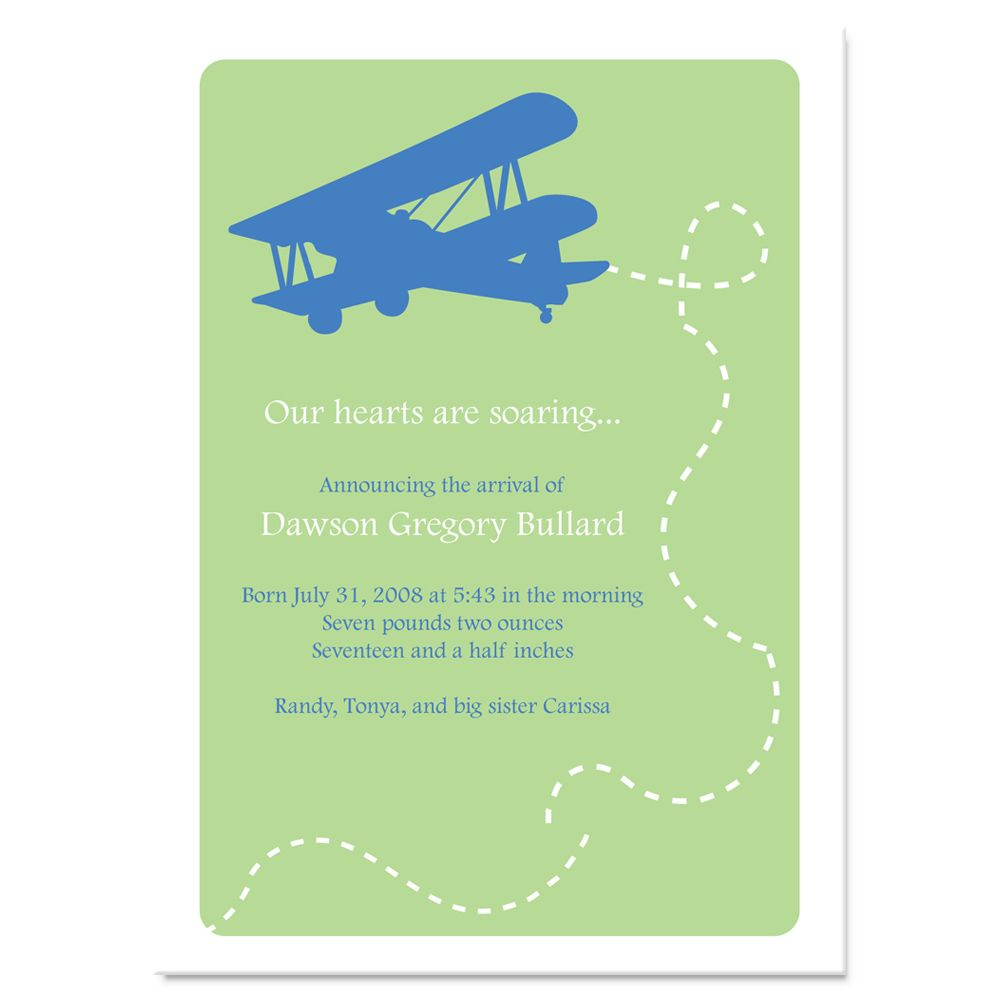 love the plane on this one...but the invite is rather plain ;)