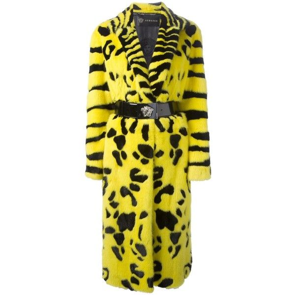 VERSACE oversized mink fur coat (€25.050) ❤ liked on Polyvore featuring outerwear, coats, jackets, coats & jackets, fur, long sleeve coat, versace, oversized coat, zebra print coat and mink fur coat