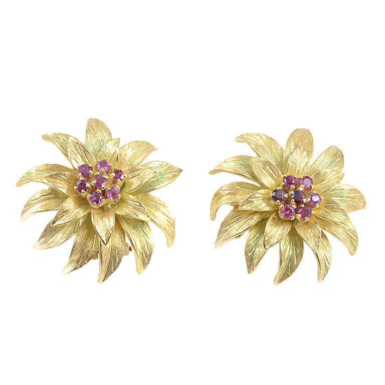 dce4eeb24 Tiffany Gold Flower Earrings | Gardening: Flower and Vegetables