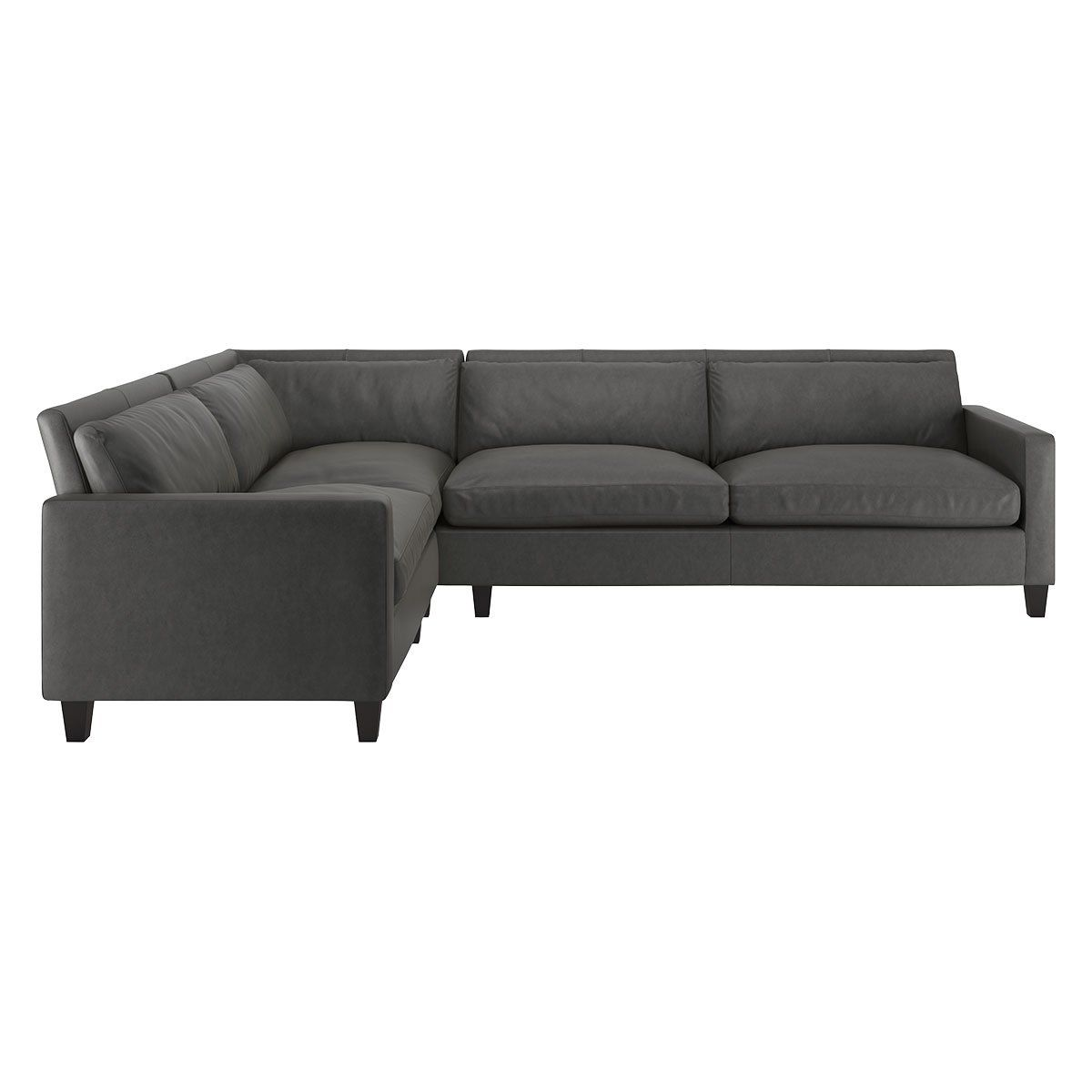 Lounge In Style With This Italian Made Chester Leather Grey Right Arm Corner Sofa Fully Upholstered In Sumptuous Grey Grey Leather Corner Sofa Leather Corner Sofa Corner Sofa
