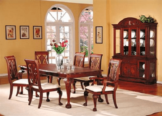 Dining Room Table Decor When Not In Use With Flower Or Plant In The Vase Pot Tabled Luxury Dining Room Tables Farmhouse Dining Room Set Cheap Dining Room Sets